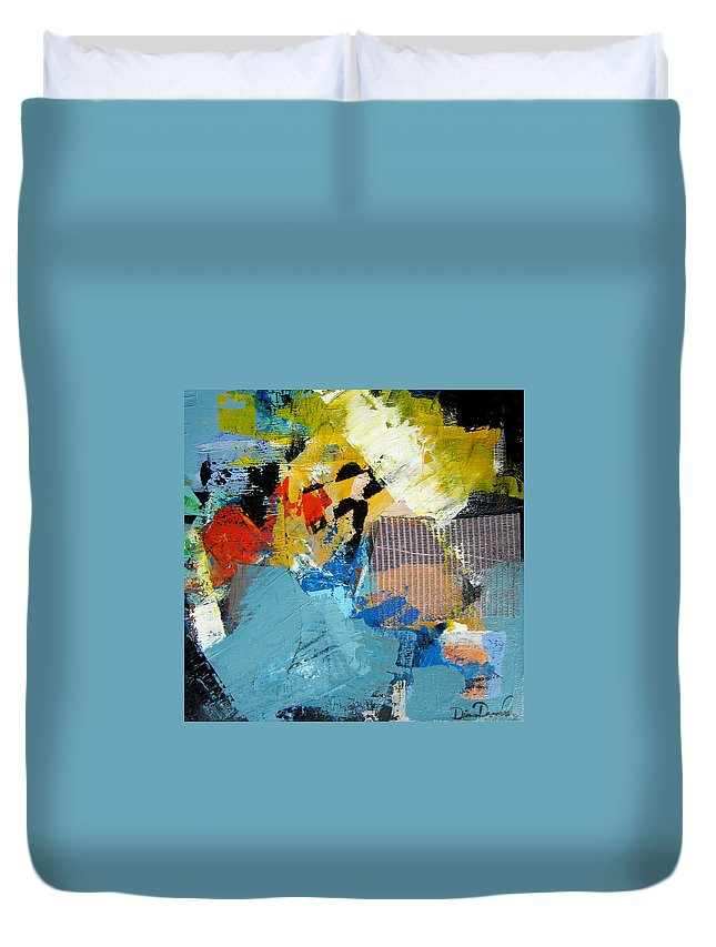 Modern Abstract Paintings Duvet Cover featuring the painting Animato by Diane Desrochers