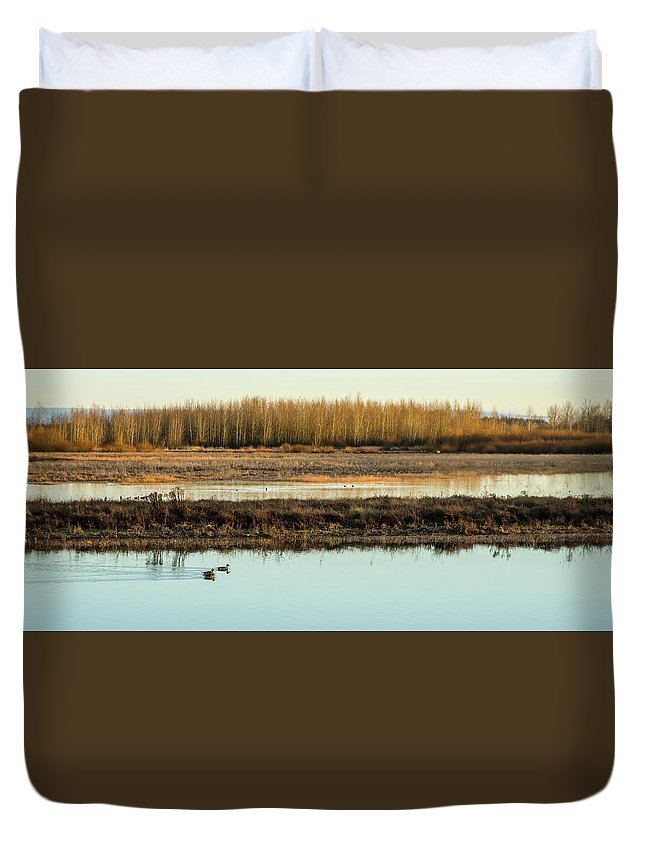 Ankeny Duvet Cover featuring the photograph Ankeny Reflections by Nick Boren