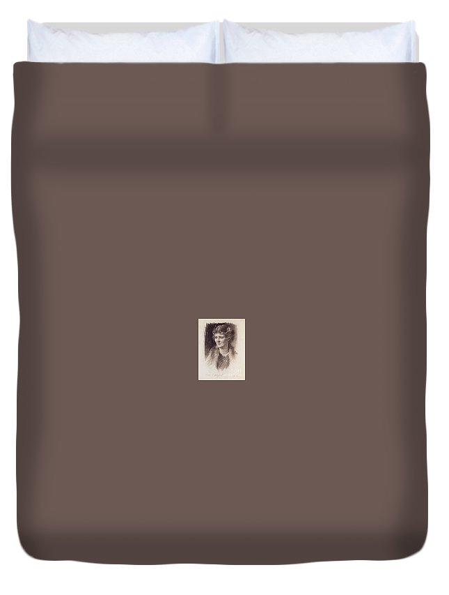 Anna R. Mills Duvet Cover featuring the painting Anna R. Mills by MotionAge Designs