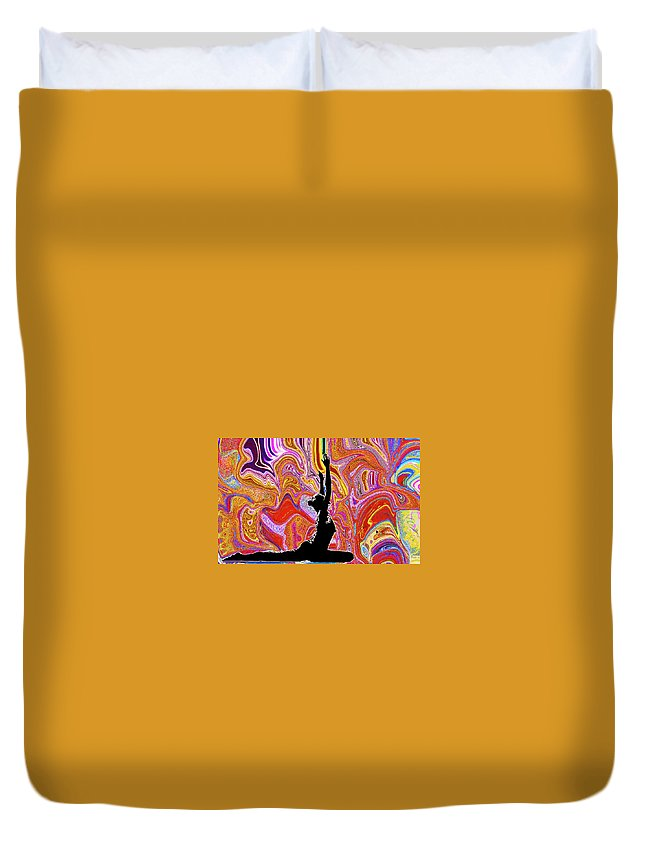 Yoga Duvet Cover featuring the photograph Anne by Luke Golobitsh