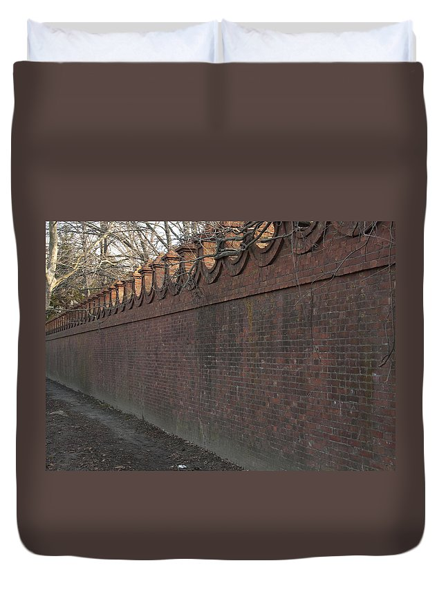 Wall Duvet Cover featuring the photograph Another Brick In The Wall by Steven Natanson