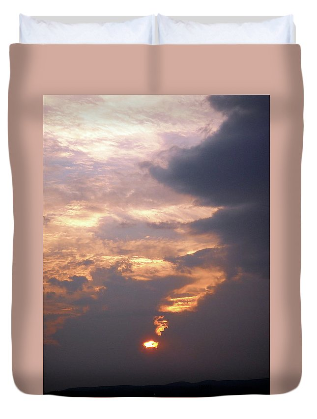 Sunset Duvet Cover featuring the photograph Another California Sunset by Stephanie Moore