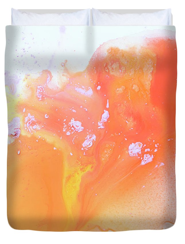 Abstract Duvet Cover featuring the painting Another Love by Claire Desjardins
