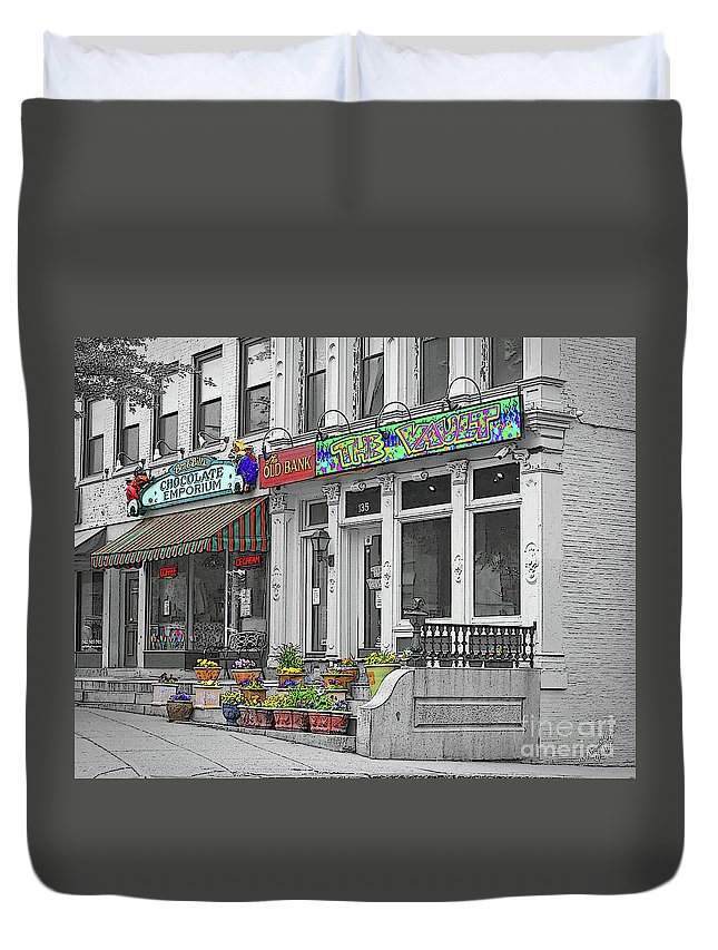 Northampton Duvet Cover featuring the photograph Another One From Northampton by Brenda Spittle