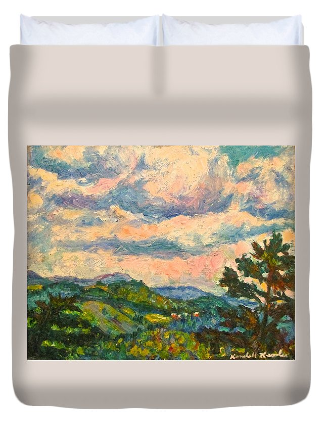 Landscape Paintings Duvet Cover featuring the painting Another Rocky Knob by Kendall Kessler