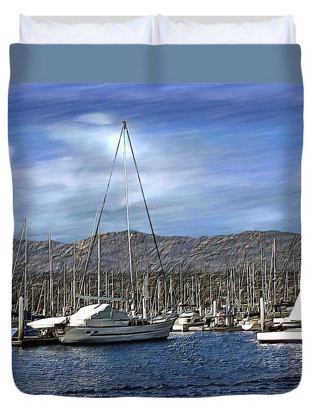 Ocean Duvet Cover featuring the photograph Another Sunny Day by Kurt Van Wagner