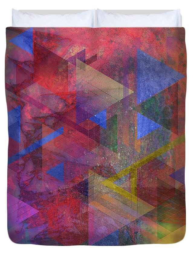 Another Time Duvet Cover featuring the digital art Another Time by John Beck
