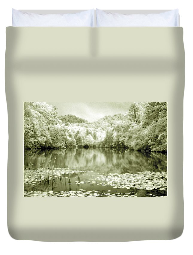 Infrared Duvet Cover featuring the photograph Another World by Alex Grichenko