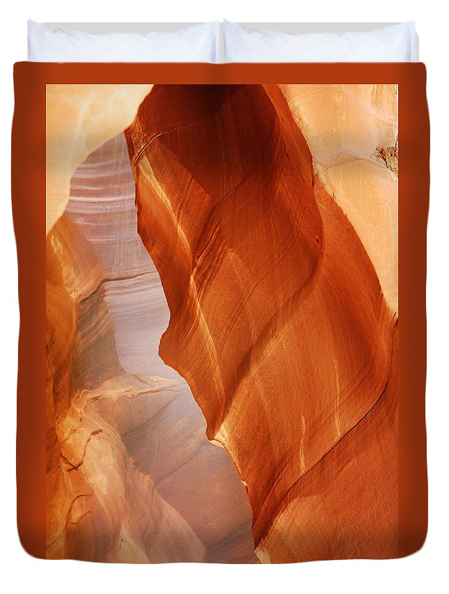 Southwest Duvet Cover featuring the photograph Antelope Canyon - Arizona's sandstone cathedral by Alexandra Till