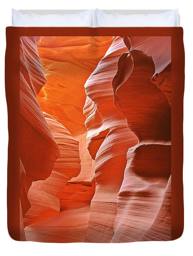 Southwest Duvet Cover featuring the photograph Antelope Canyon - Nature's Art Gallery by Christine Till