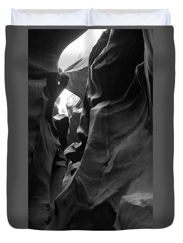 Duvet Cover featuring the photograph Antelope Canyon by Edward Chang