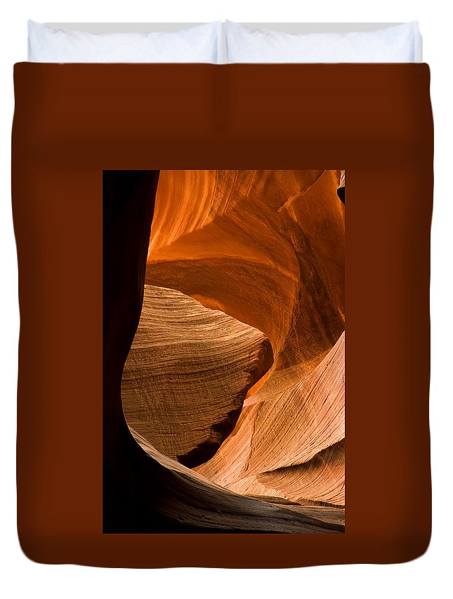 3scape Photos Duvet Cover featuring the photograph Antelope Canyon No 3 by Adam Romanowicz