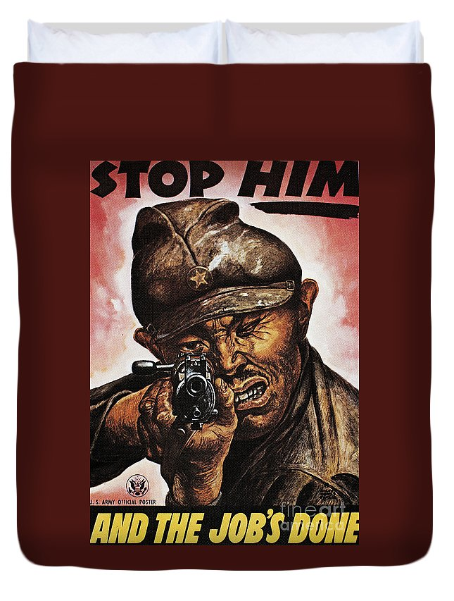 1942 Duvet Cover featuring the photograph Anti-japanese Poster, 1942 by Granger