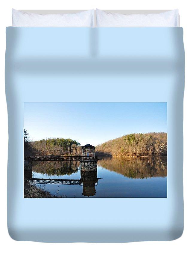 Antietam Duvet Cover featuring the photograph Antietam Creek by Bill Cannon