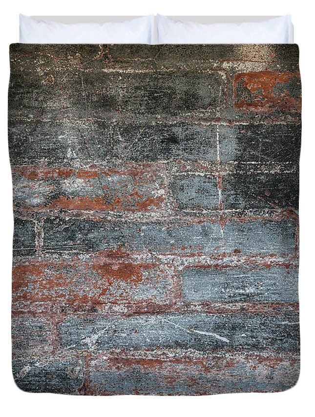 Bricks Duvet Cover featuring the photograph Antique Brick Wall by Elena Elisseeva