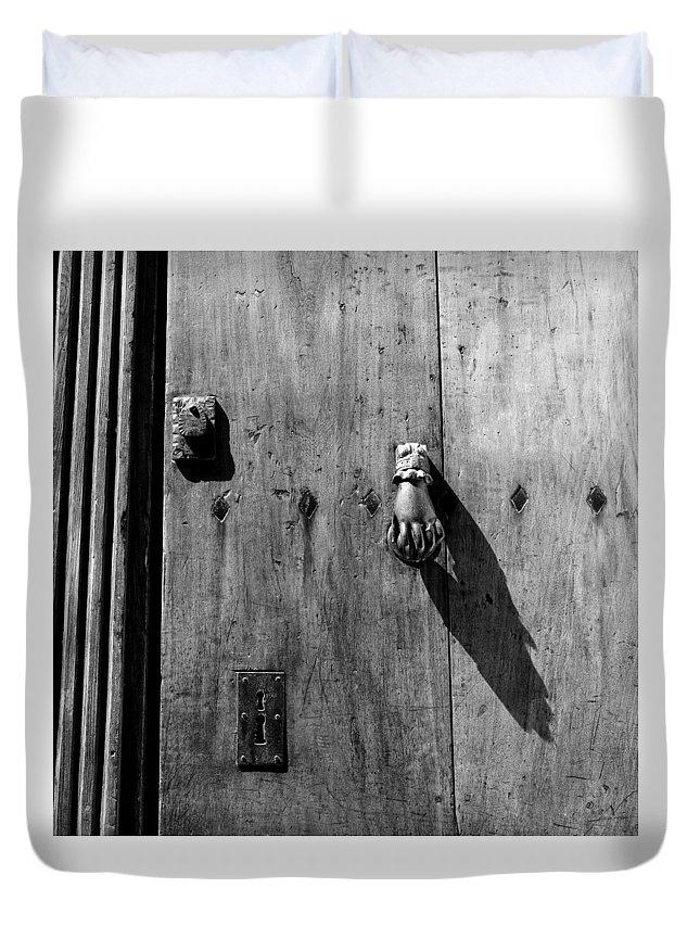 Antique Door Duvet Cover featuring the photograph Antique Door 2b by Andrew Fare