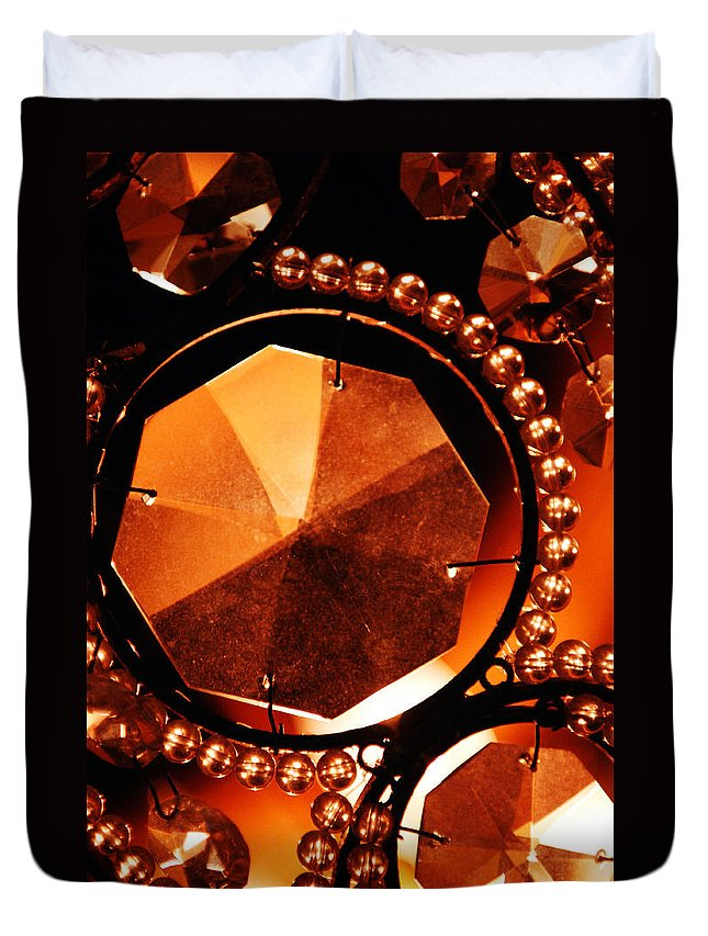 Antique Duvet Cover featuring the photograph Antique Glass by Jill Reger