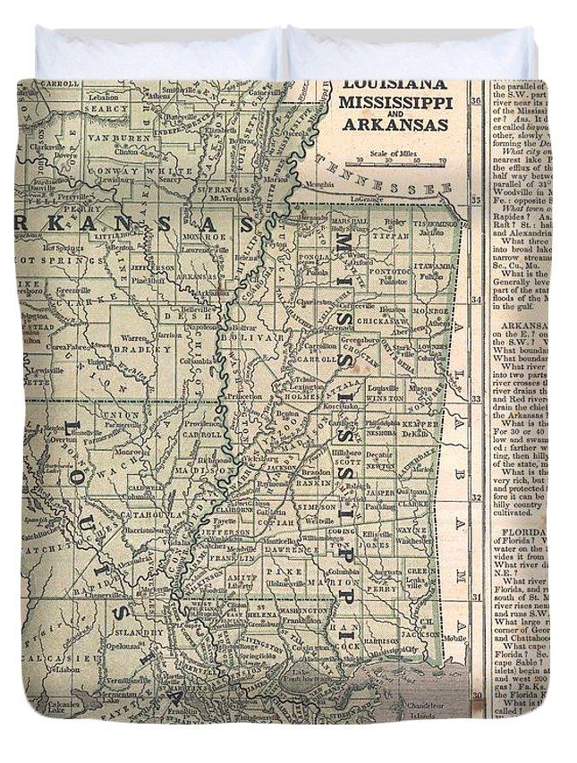 Arkansas And Louisiana Map.Antique Maps Old Cartographic Maps Antique Map Of Louisiana