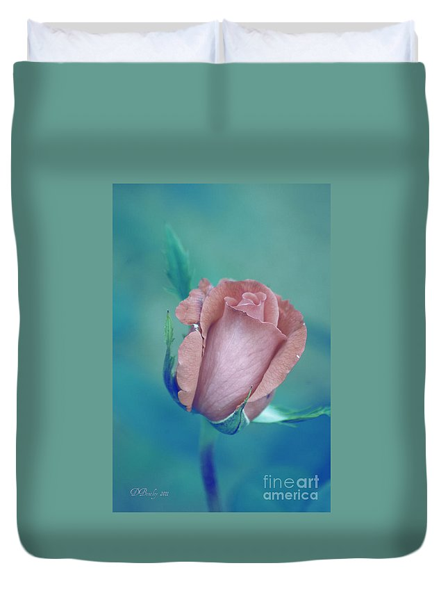 Rosebud Duvet Cover featuring the photograph Antique Rose 2 by Donna Bentley