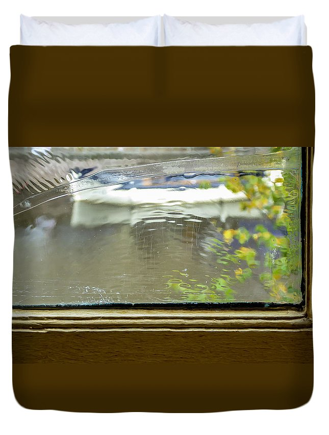 Antique Duvet Cover featuring the photograph Antique Window - Amsterdam by Pamela Newcomb