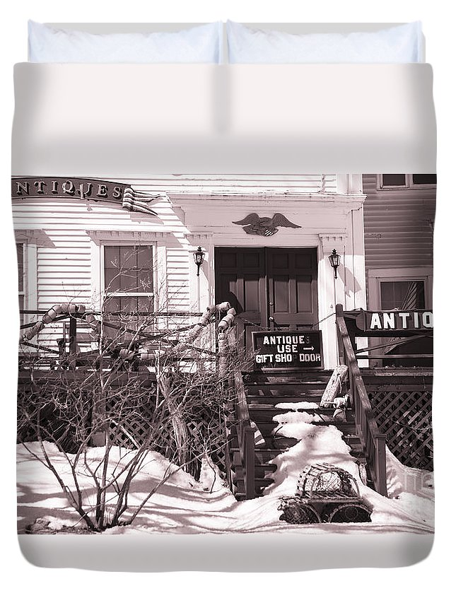 Old Home Duvet Cover featuring the photograph Antiques For Sale by Alana Ranney