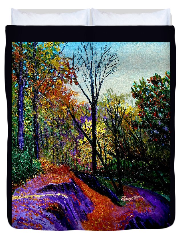 Twilight Duvet Cover featuring the painting Ap 10 26 by Stan Hamilton