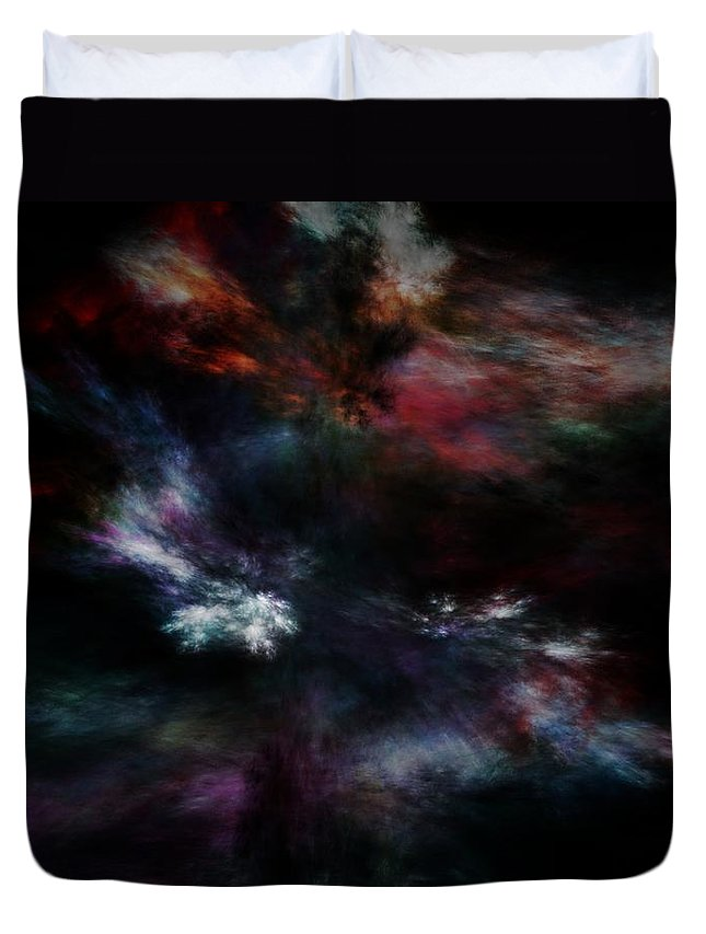 Abstract Digital Painting Duvet Cover featuring the digital art Apocalyptical Dawn by David Lane