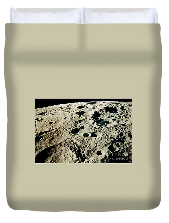 1971 Duvet Cover featuring the photograph Apollo 15: Moon, 1971 by Granger