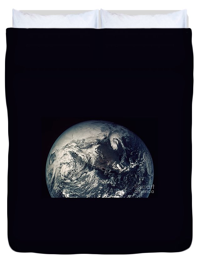 1970s Duvet Cover featuring the photograph Apollo 16: Earth by Granger