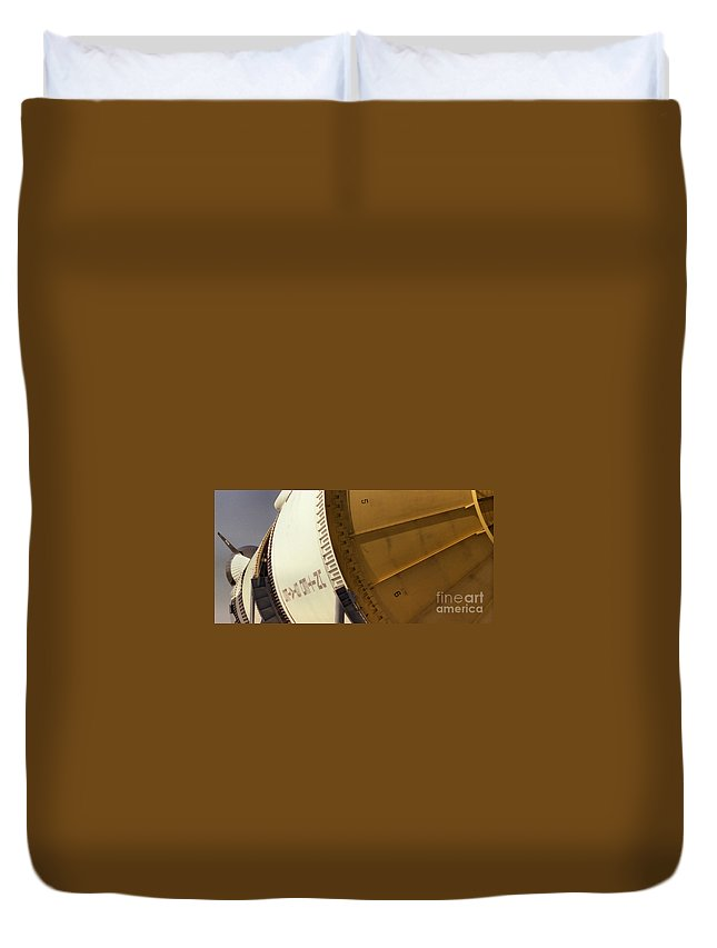 Technology Duvet Cover featuring the photograph Apollo Rocket by Richard Rizzo