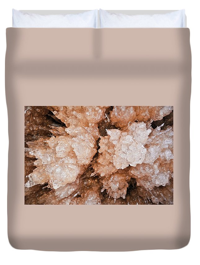 Apostle Islands National Lakeshore Duvet Cover featuring the photograph Apostle Islands Icicle Wall by Kyle Hanson