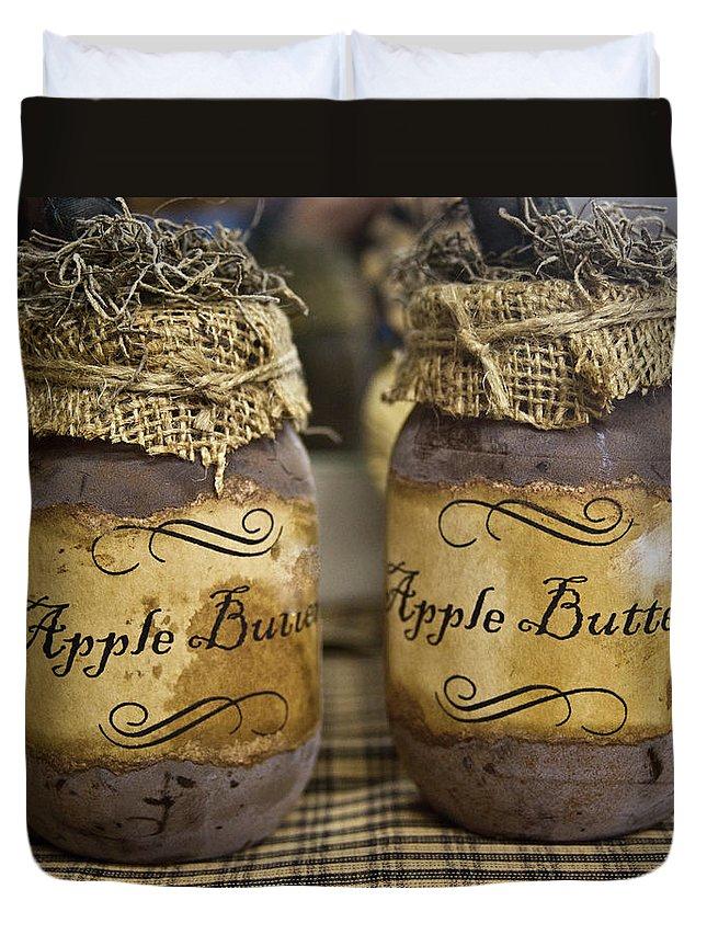 Apple Duvet Cover featuring the photograph Apple Butter by Douglas Barnett
