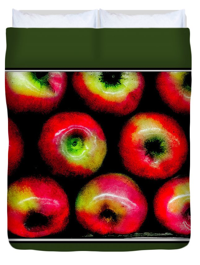 Apples Duvet Cover featuring the photograph Apples by Madeline Ellis