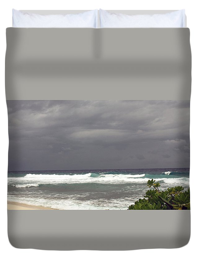 Grand Cayman Duvet Cover featuring the photograph Approaching Storm 6 by June Goggins