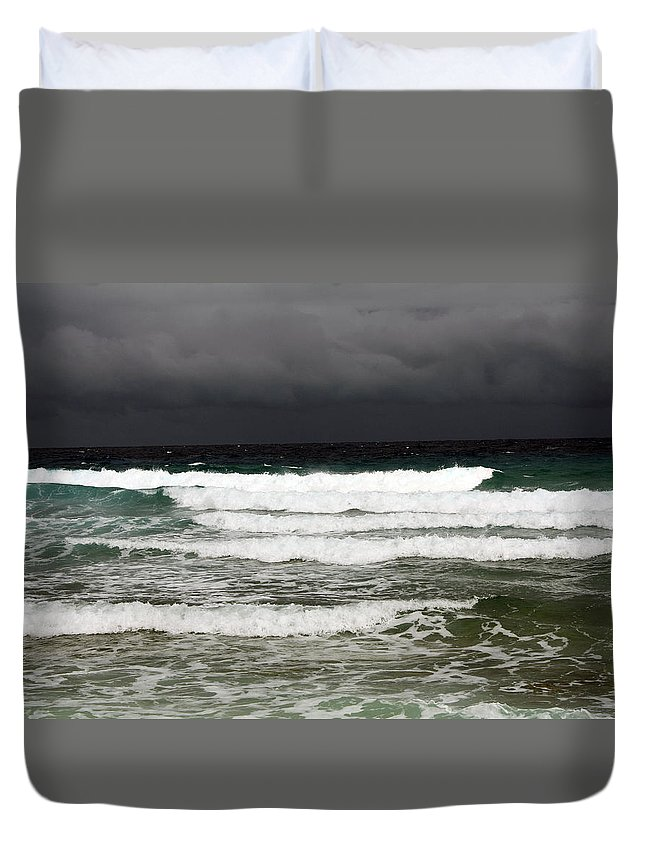 Grand Cayman Duvet Cover featuring the photograph Approaching Storm 8 by June Goggins