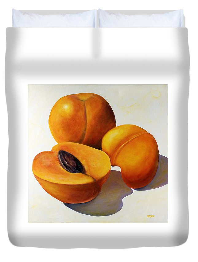 Apricots Duvet Cover featuring the painting Apricots by Shannon Grissom