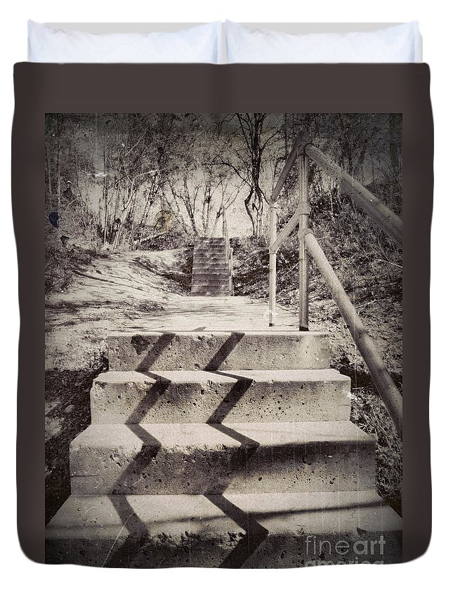 Stairway Duvet Cover featuring the photograph April 9 2010 by Tara Turner