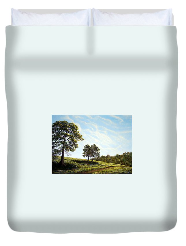 Wilderness Duvet Cover featuring the painting April Afternoon by Frank Wilson