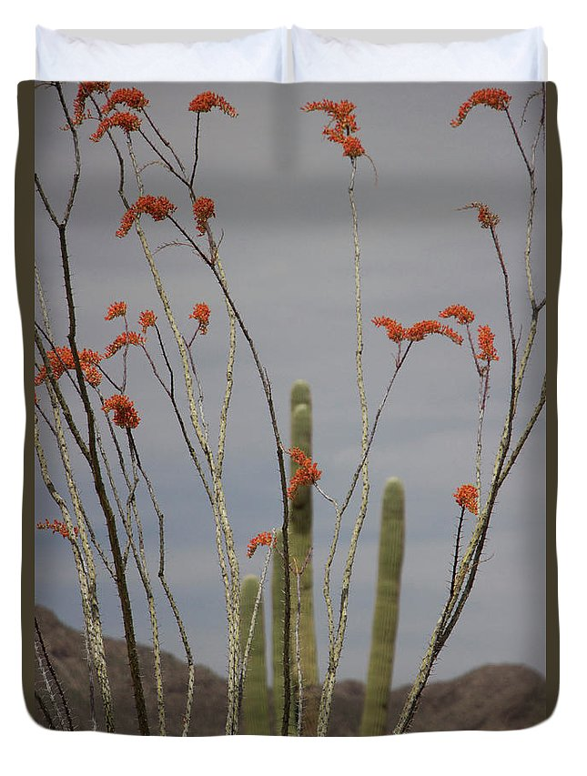 Duvet Cover featuring the photograph April by Eric Rosenwald