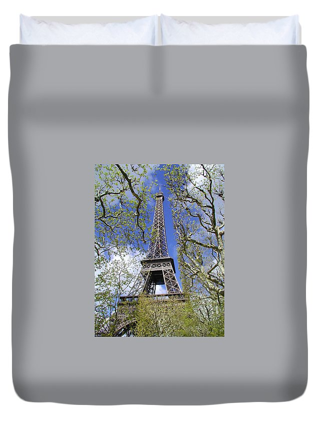 Paris Duvet Cover featuring the photograph April In Paris by Tom Reynen