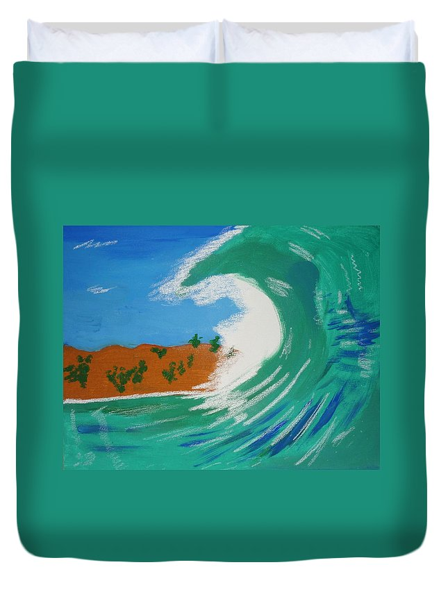 Seascape Duvet Cover featuring the painting Aqua Passions by Lorna Lorraine