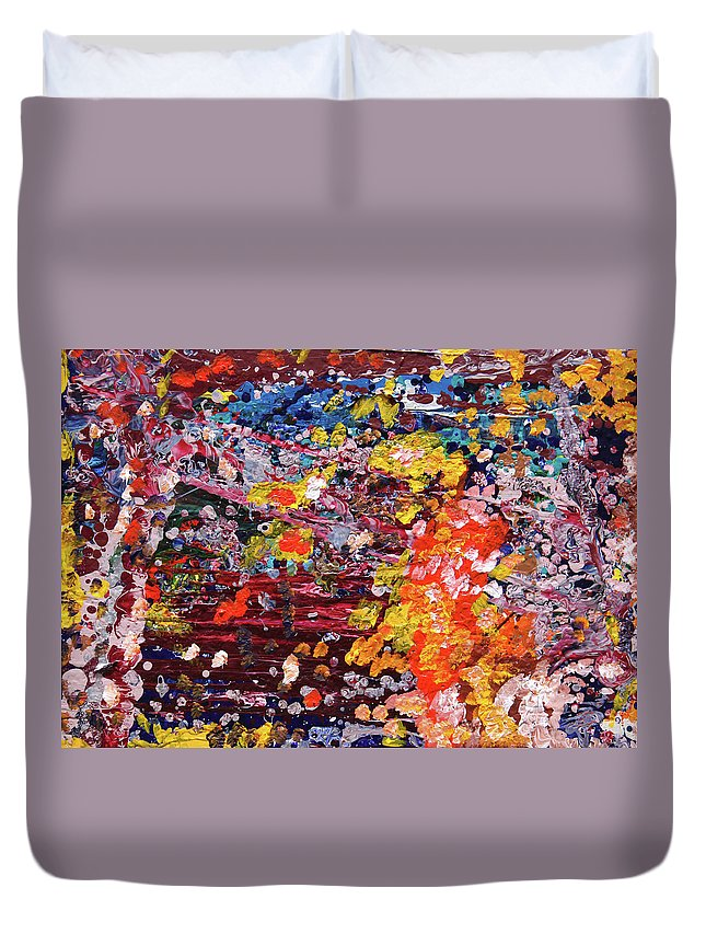 Fusionart Duvet Cover featuring the painting Aquarium by Ralph White