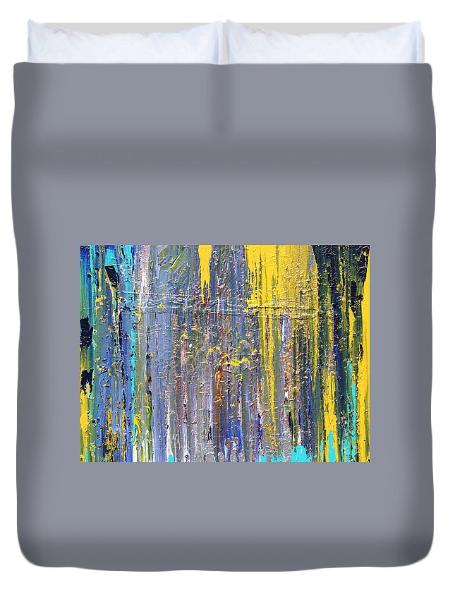 Fusionart Duvet Cover featuring the painting Arachnid by Ralph White