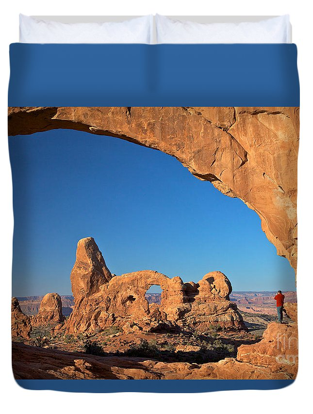 Arches Duvet Cover featuring the photograph Arch Though An Arch by Daryl L Hunter