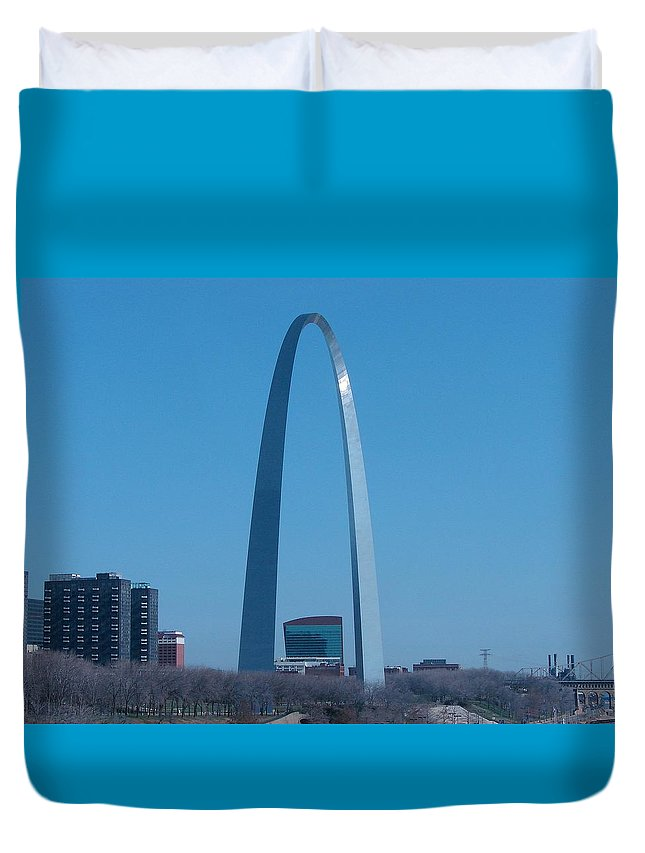 St Louis Duvet Cover featuring the photograph Arch With Lumiere by J R Seymour