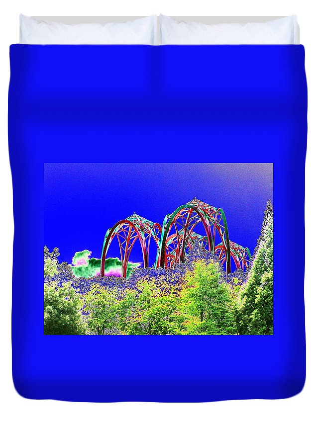 Seattle Duvet Cover featuring the photograph Arches 6 by Tim Allen