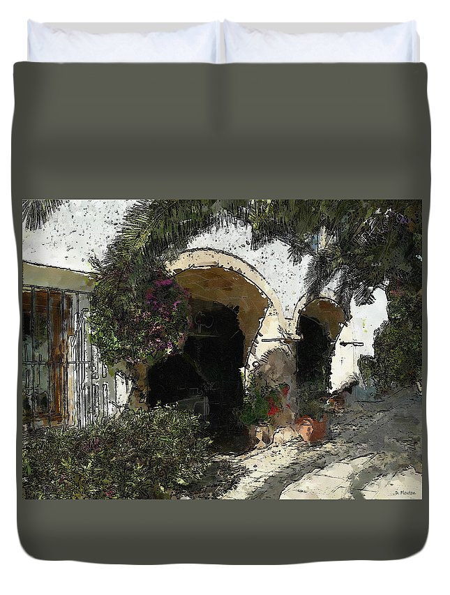 Ebsq Duvet Cover featuring the photograph Arches by Dee Flouton