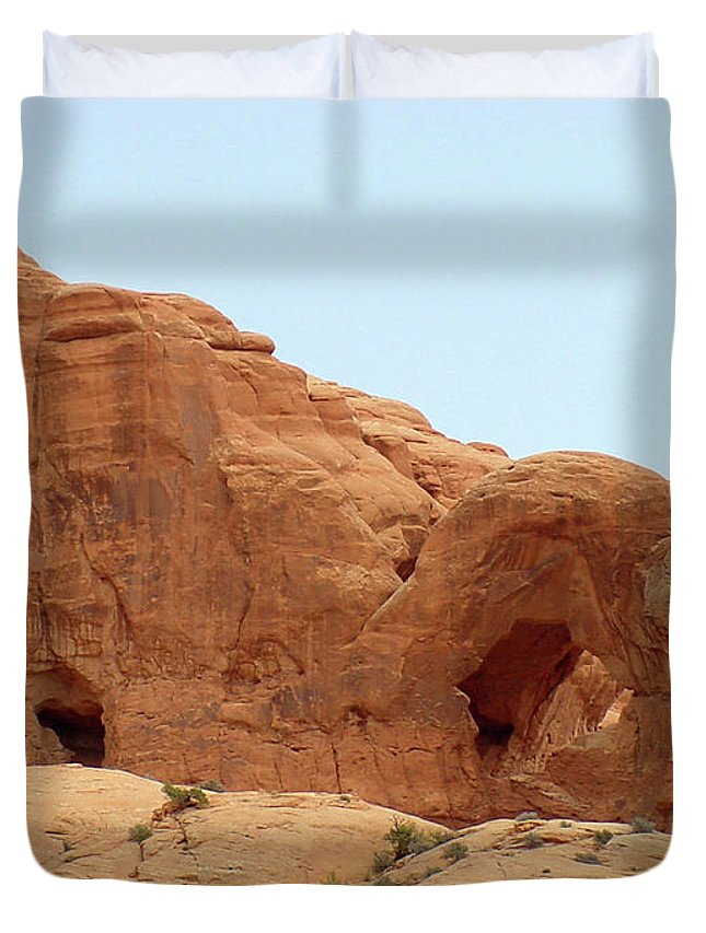 Arches National Park Duvet Cover featuring the photograph Arches Formation 29 by Dawn Amber Hood