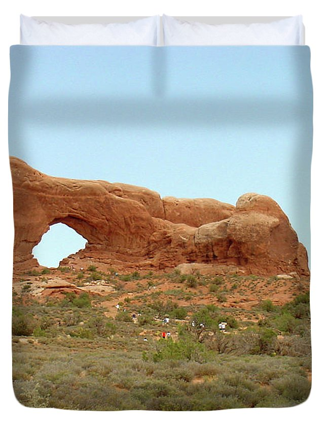 Arches National Park Duvet Cover featuring the photograph Arches Formation 34 by Dawn Amber Hood