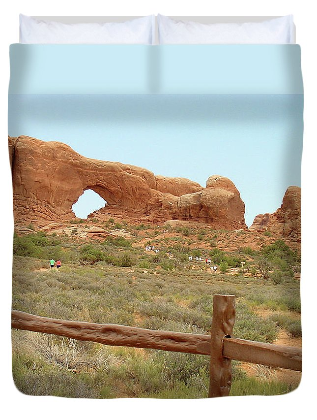 Arches National Park Duvet Cover featuring the photograph Arches Formation 35 by Dawn Amber Hood